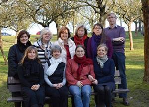 Board members in a park in Brussels.
