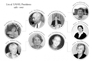 Pictures of EAHIL presidents from 1987 to 2007.