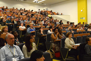 Audience in a lecture hall.