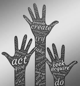 Three hands.