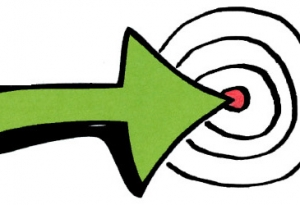 Arrow pointing to a target.