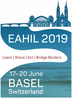logo for European Association for Health Information and Libraries Workshop, Basel, 17-20 June 2019