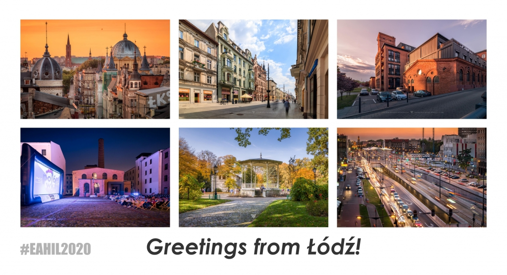 image representing a postcard from Lodz containing photos used with kind permission of Patryk Grądys, www.patrykgradys.com