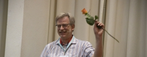 Christoph Wehrmüller and a rose.