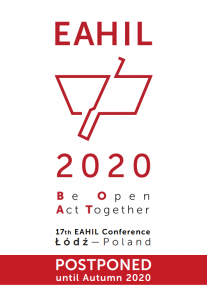 Logo of EAHIL2020 with the text postponed.